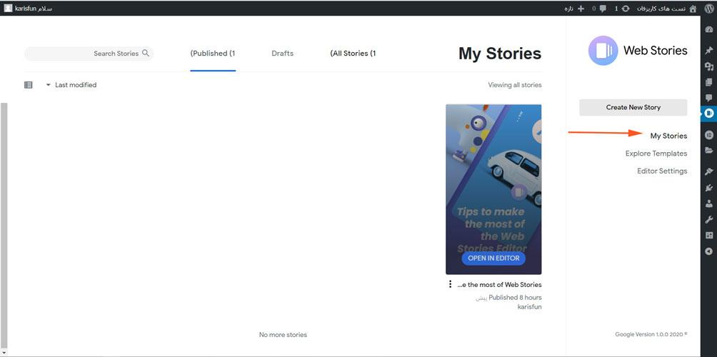 گوگل وب استوری یک محتوای جذابه که پاش به وب سایت ها هم باز شده 3
