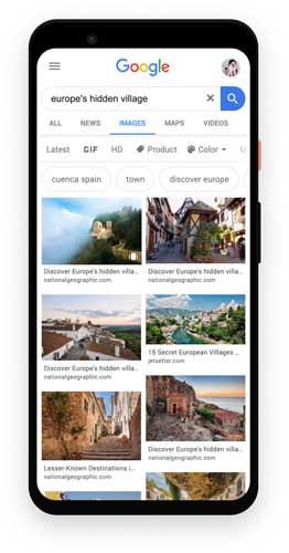 گوگل وب استوری در تصاویر