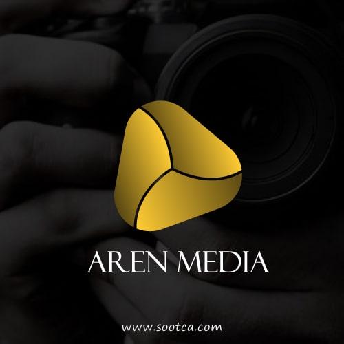 طراحی لوگو شرکت آرن مدیا