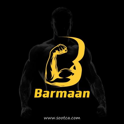 طراحی لوگوی باشگاه بدنسازی بارمان