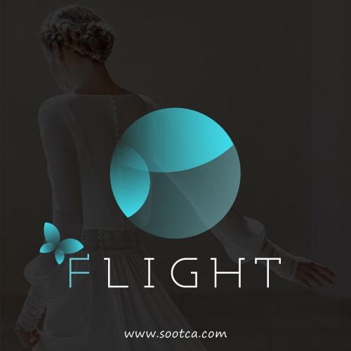 طراحی لوگو سالن زیبایی فلایت