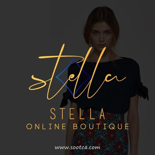 طراحی لوگو بوتیک آنلاین پوشاک استلا