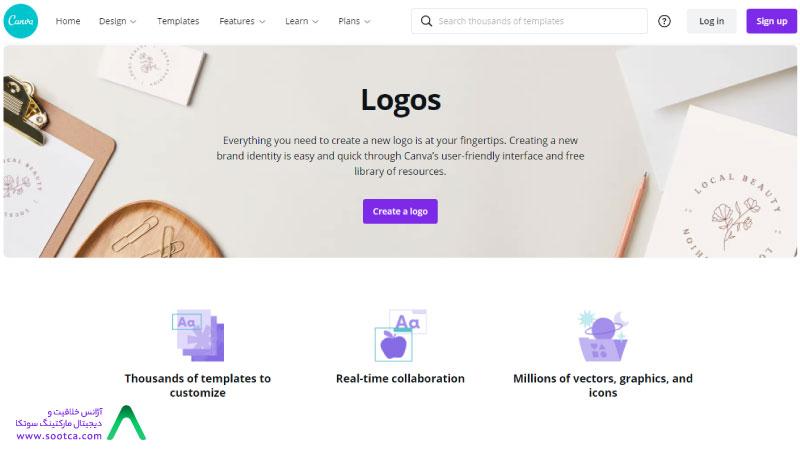 طراحی لوگو رایگان آنلاین با سایت خارجی کانوا
